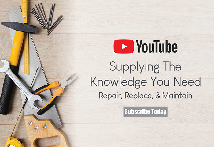 YouTube Supplying The Knowledge You Need - Repar, Replace, and Maintain - Subscribe Today