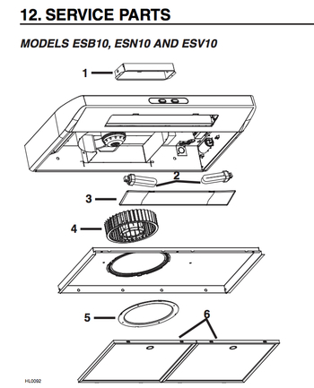 Diagram for ESN1030WH