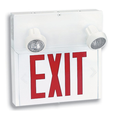 Combination Exit Fixture & Emergency Lights