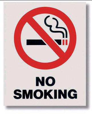 No Smoking Placards