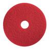 "20"" Red Buffing Floor Maintenance Pad"