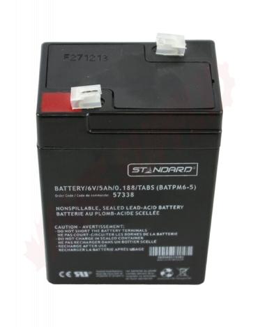 Photo 2 of SLA6-5 : Battery, 5Ah 6V Sealed Lead