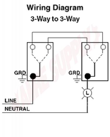 Leviton Decora 3-Way Switch Wiring Diagram 5603 from www.amresupply.com