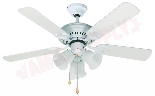 Photo 1 of CF42SEY5WH : Canarm Seymour, 42 Ceiling Fan, White, 3x60W