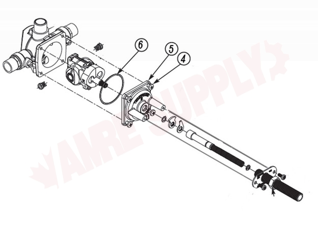3103 1216 Tempress Ii Valve Cover Assembly For Tub