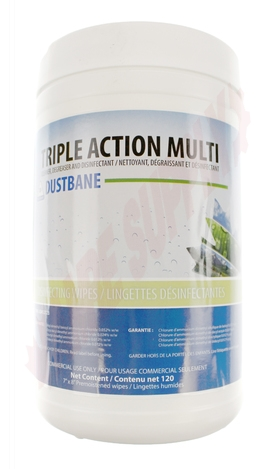 Photo 3 of DB53376 : Dustbane Triple Action Wipes, Disinfectant, Cleaner & Degreaser 120/Pack