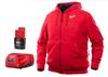 Milwaukee M12 Heated Hoodie Kit, Red, 2 Extra Large