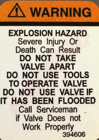 Photo 15 of Y330239 : Whirlpool Range Gas Valve, Nat