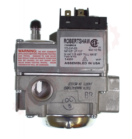 Old Robertshaw Gas Valve Wiring Diagram on