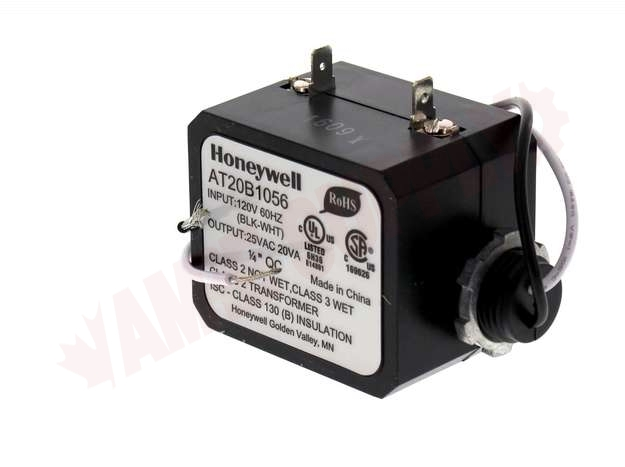 AT20B1056 : Honeywell Conduit Clamp Mount Transformer, 20VA ... on