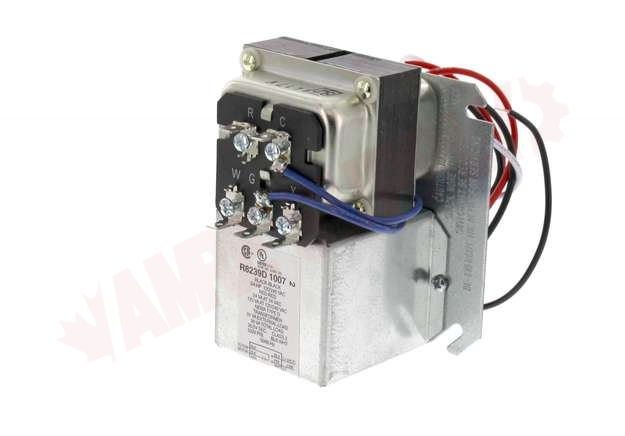 R8239d1007   Honeywell Fan Center  Relay Transformer  Dpst  120v