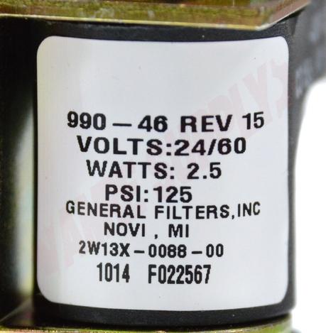 Photo 13 of GF-109942 : GeneralAire Humidifier Solenoid Valve, 24V, 6 Gallon/hr