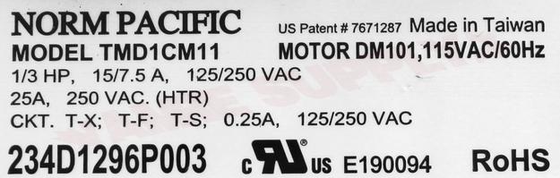Photo 13 of WW02F00437 : GE Dryer Timer