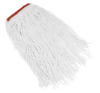 CUT END SYNTHETIC WET MOP HEAD, 20OZ, WHITE