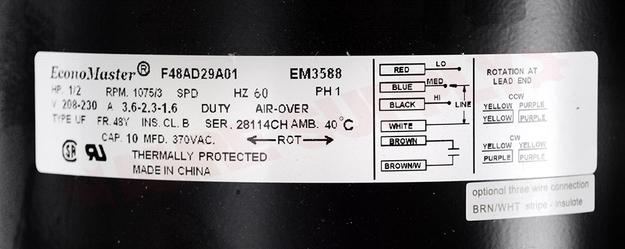 DD-3588 : Motor 1/2HP Direct Drive 5.5