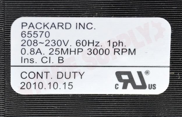 Photo 20 of 65570 : Packard Motor & Fan Blade Kit Draft Inducer, Flue Exhaust 3000RPM 230V Carrier HC24HE230