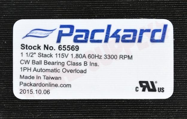 Photo 23 of 65569 : Packard Motor & Fan Blade Kit Draft Inducer, Flue Exhaust 25MPH 3300RPM 115V Carrier