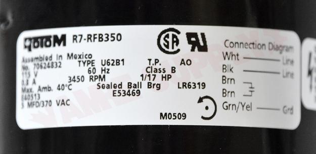 Photo 13 of FB-RFB350 : Blower Draft Inducer, Flue Exhaust 1/25HP 3340RPM 115V Keeprite, ICP, Intercity