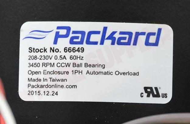 Photo 17 of 66649 : Packard Blower Draft Inducer, Flue Exhaust Assembly 1/16 HP 3450RPM 208/230V Carrier