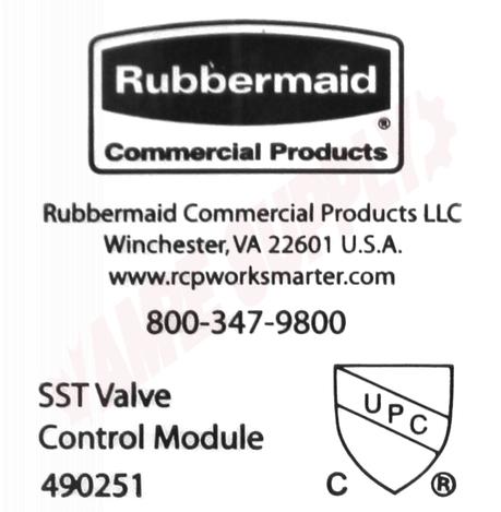 TC RUBBERMAID SST SINGLE VALVE BOX P//N 490144 W//CONTROL MODULE 490251
