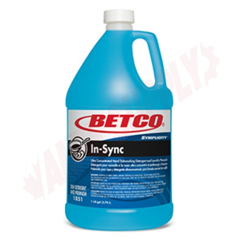 Photo 1 of 18510400 : Betco Symplicity™ In-Sync Concentrated Dishwashing Detergent, 3.8L