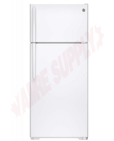 Photo 1 of GTE18GTHWW : GE 17.5 cu. ft. Top Freezer Refrigerator, White
