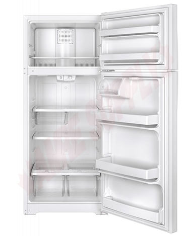 Photo 3 of GTE18GTHWW : GE 17.5 cu. ft. Top Freezer Refrigerator, White
