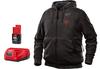 Milwaukee M12 Heated Hoodie Kit, Black, Extra Large