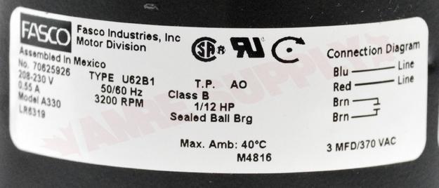 Photo 13 of A330 : Packard Blower Draft Inducer, Flue Exhaust 1/12HP 3200RPM 208-230V Lennox Replacement