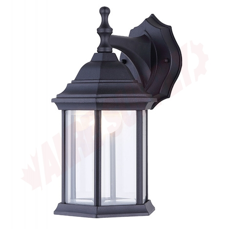 Photo 1 of LOL336BK : Canarm Outdoor Lantern, Black, Clear Glass, 9W LED