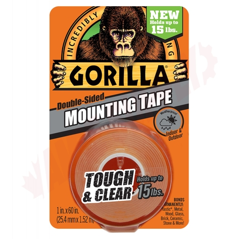 Photo 1 of 6065102 : Gorilla Glue Tough Mounting Tape, Clear, 1 x 5'