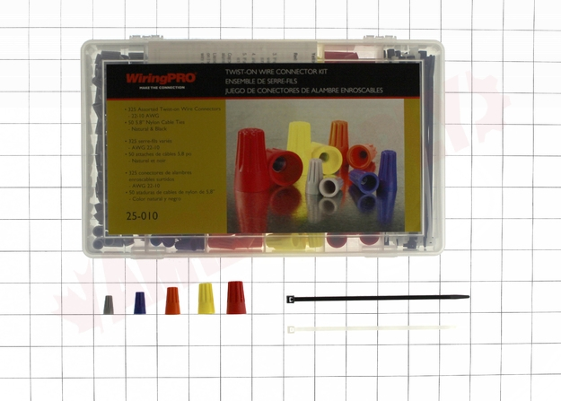 Photo 6 of 25-010 : WiringPro 22-8 AWG Twist-On Wire Connector Kit, 375 Pieces