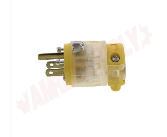 Leviton Plug 15 Amp Nema 5-15 Pole Clear Ylw Green