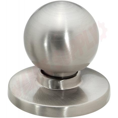 Photo 1 of 20-B1050SN : Taymor Pedestal Knob, Removable Back Plate, Satin Nickel