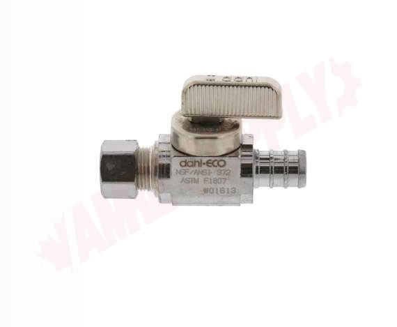 Photo 1 of 511-PX3-31 : Dahl 1/2 Crimpex x 3/8 OD Compression Straight Shut Off Valve