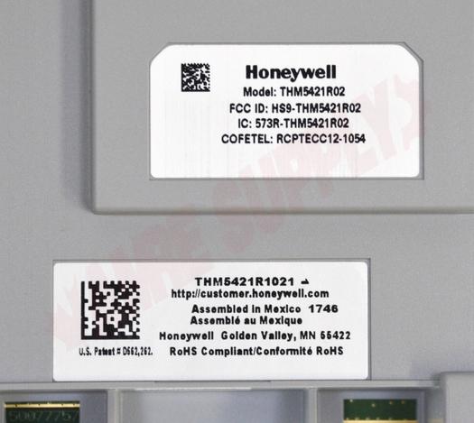 Photo 12 of YTHX9421R5101WW : Honeywell Home Prestige 2-Wire IAQ Digital Thermostat Kit, Programmable, Heat/Cool