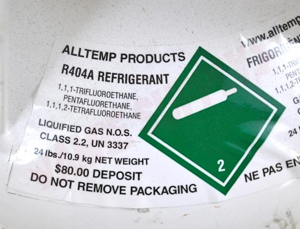 Photo 5 of R404A : R404a Refrigerant, 25lbs 11.34kg