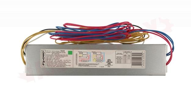 Photo 2 of E296T12PRS347/N/HO : Standard Lighting Electronic Linear Fluorescent Ballast, 347V