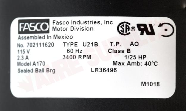 Photo 16 of A170 : Packard Blower Draft Inducer, Flue Exhaust 2800RPM 115V, ICP