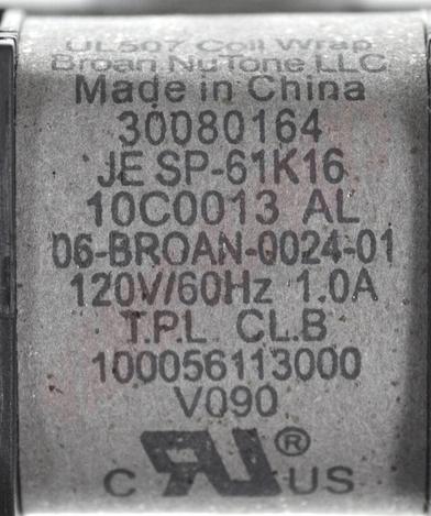 Photo 14 of S30080164 : Broan Nutone Exhaust Fan Motor