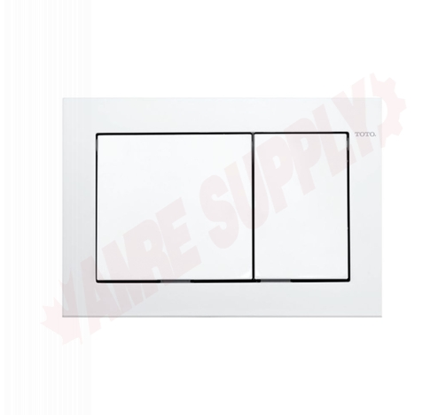 Photo 1 of YT800#WH : Toto In-Wall Tank System Rectangular Push Plate, Dual Button, White