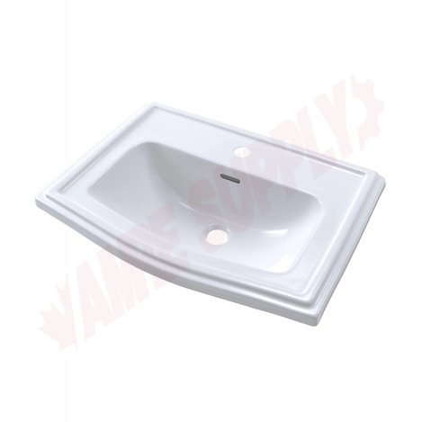 Photo 1 of LT781#01 : Toto Clayton Drop-In Bathroom Sink, Center Hole, Cotton White