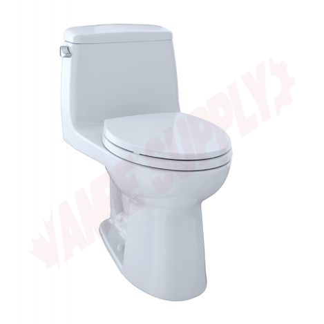 Photo 1 of MS854114ELG#01 : Toto Eco UltraMax One-Piece Elongated Toilet, Cotton White, with Seat