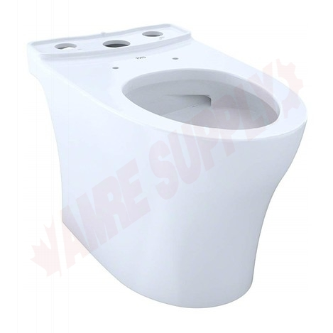Photo 1 of CT446CUG#01 : Toto Aquia IV 1G Elongated Bowl, Cotton White, 15-9/16, No Seat