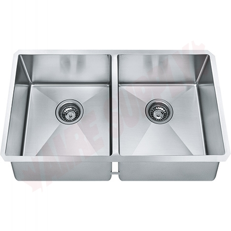 Photo 1 of TCX120-29 : Franke Techna Undermount Kitchen Sink, 2 Bowls, Stainless Steel