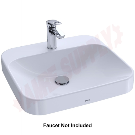 Photo 1 of LT415G#01 : Toto Arvina Vessel Bathroom Sink, Single Hole, Cotton White