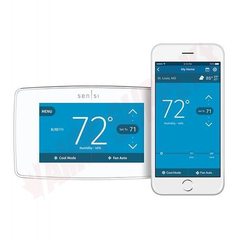 Photo 1 of 1F95U-42WFC : Emerson White Rodgers Sensi Touch Wi-Fi Thermostat, Programmable, Heat/Cool