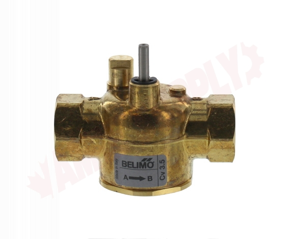 Photo 1 of ZONE215N-35 : Belimo 2-Way Actuator Valve Body Only, 1/2 3.5 Cv