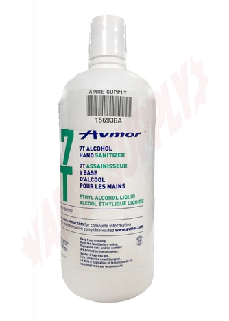 Photo 1 of 156936A : Avmor 7T 70% Alcohol Hand Sanitizer Liquid Gel, 500ml
