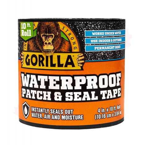 Photo 1 of 4670002 : Gorilla Glue Waterproof Patch & Seal, 4 x 10', Black